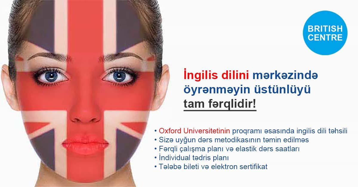 British Centre İngilis Dili Kursları Üzrə Mövcud Layihələr